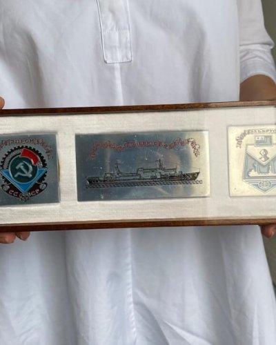 Plaque Navire  Elbrouz – Démineur – Plongeur