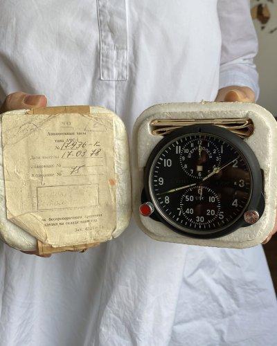 Horloge de Cockpit Soviétique – 1978 – Neuve – numéro 17936
