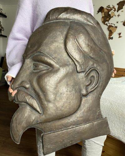 Bas Relief Felix Dzerjinski – Laiton