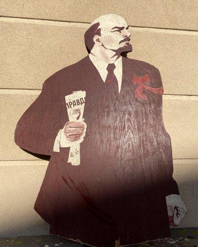 Lénine Grandeur Nature – Manifestation Soviétique – Bois