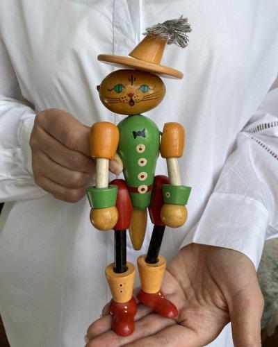 Jouet – Chat botté – Années 60 – Figurine Soviétique