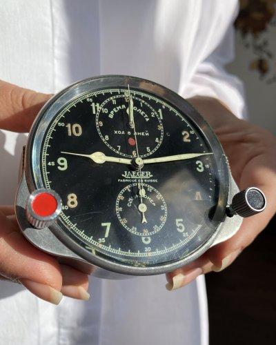 Horloge Cockpit Chronographe Jaeger Lecoultre – URSS – Suisse