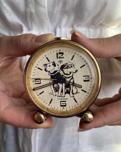 Horloge réveil – Belka Strelka – Chiens Cosmonautes