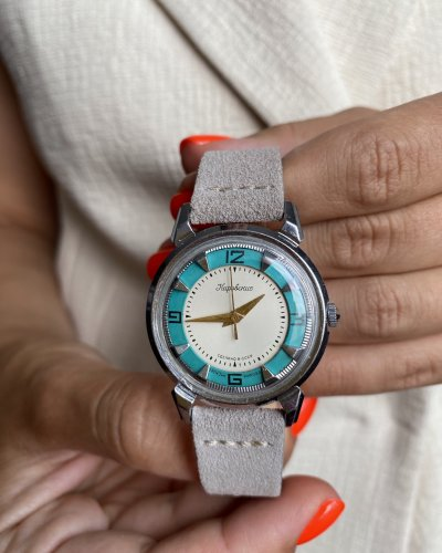 Montre Kirvoskie – Crabe – Turquoise – Années 50