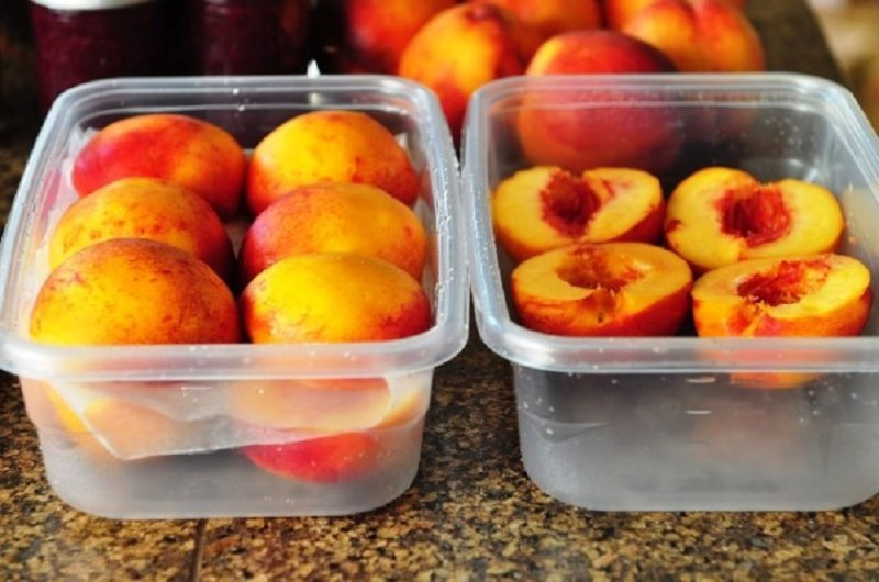 как заморозить персики на зиму