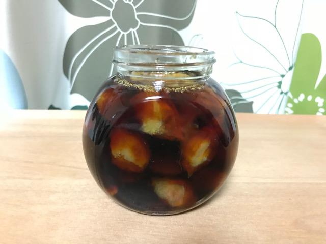 梅の種に醤油
