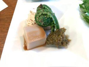 こごみとフキノトウ味噌