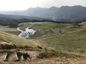 曽爾高原のススキ絶景スポットお亀峠から