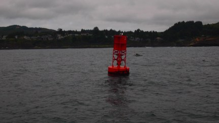 Keep left of the buoys. Learned that from Mitch's dad.