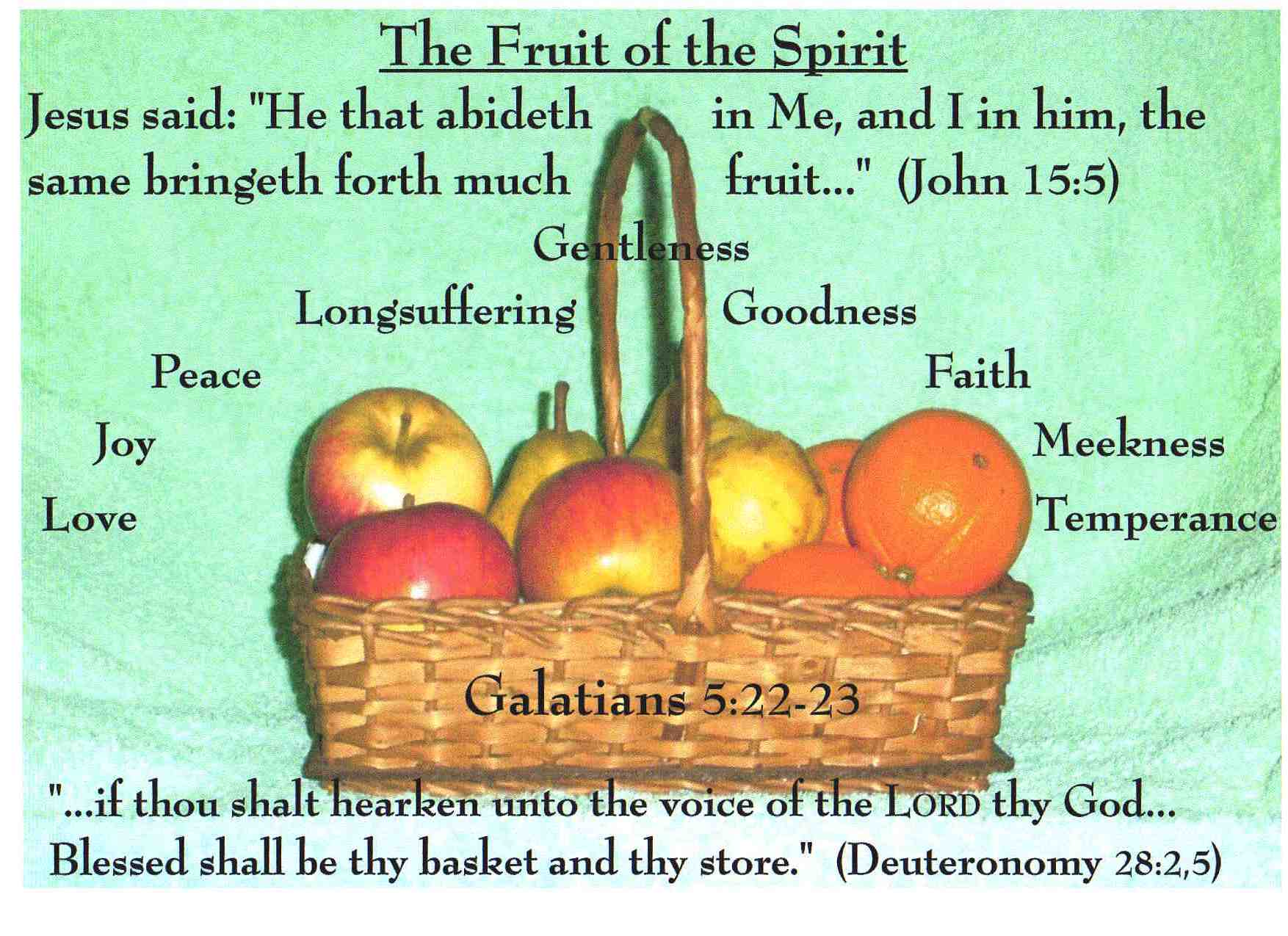 The Fruit Of The Spirit (1)
