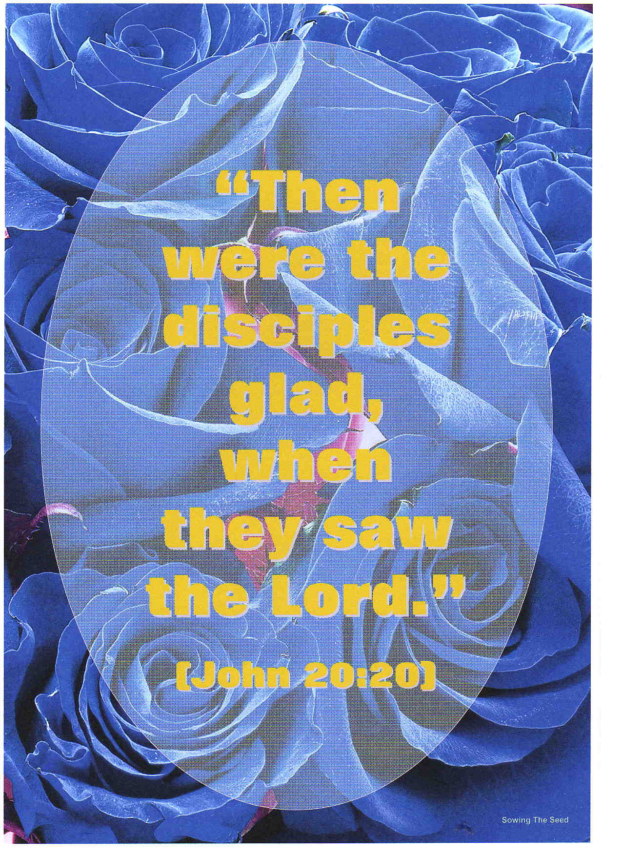 Then Were The Disciples Glad
