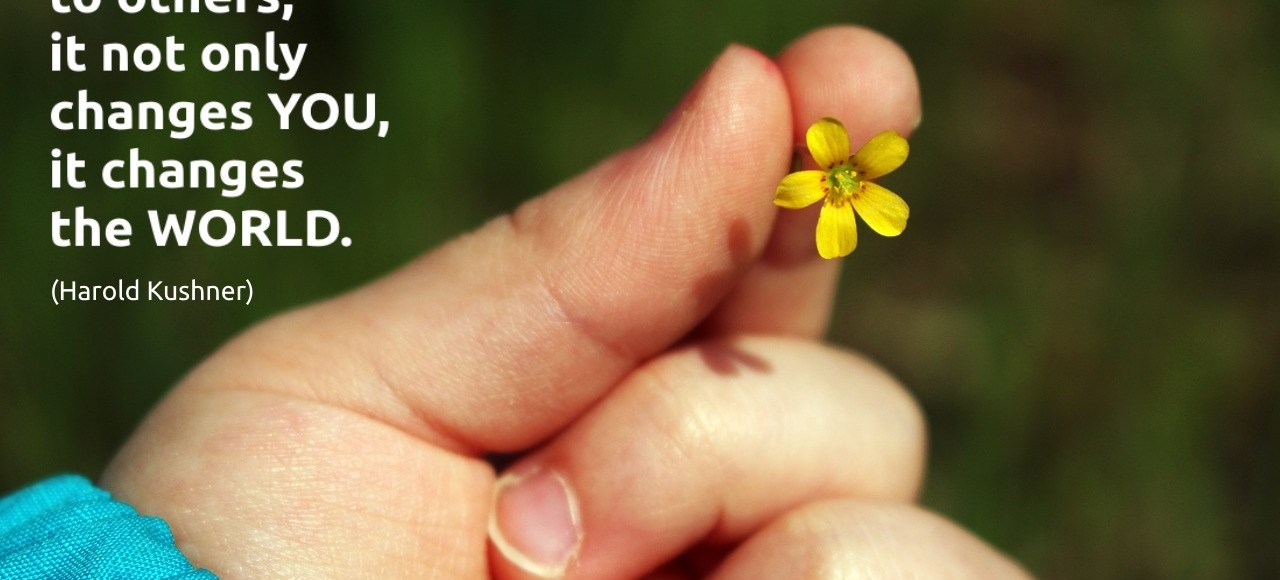 When you are kind to others, is not only changes you, it changes the world. (Harold Kushner)