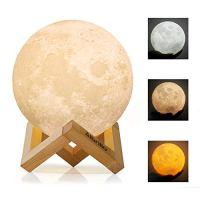 Albrillo LED Mond Lampe – 15cm 3D Mondlicht mit Touch ...