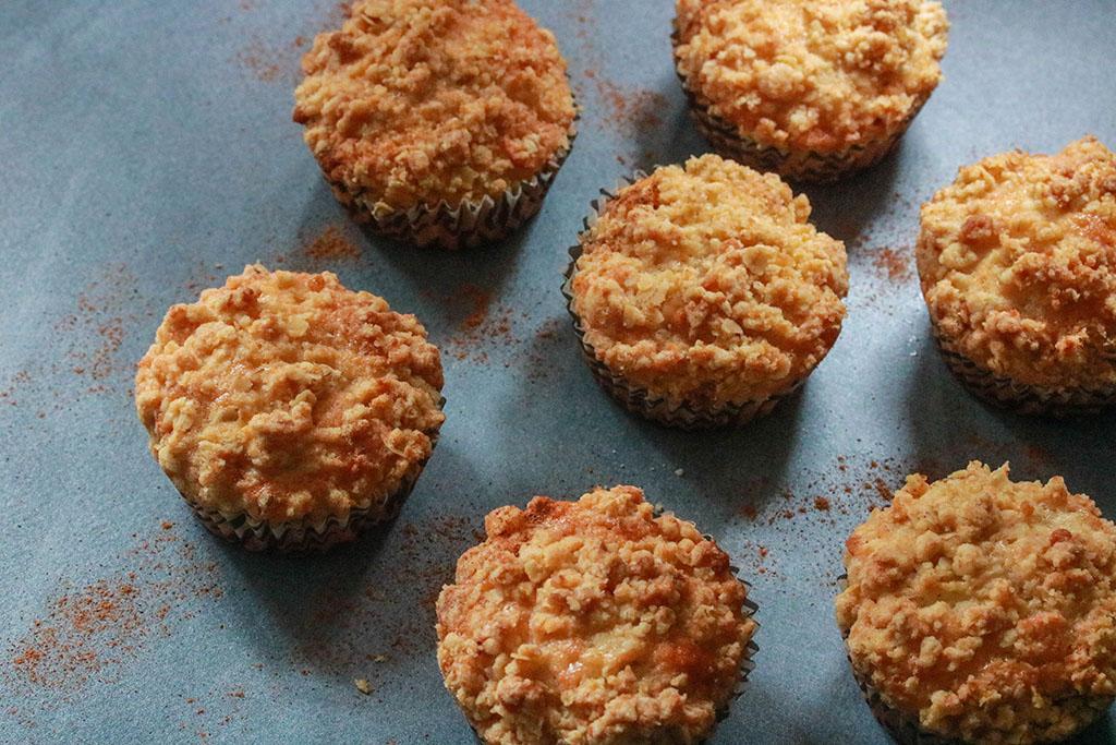Vegan appel crumble cupcakes