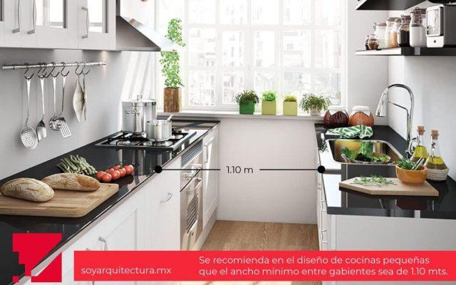El diseño de cocina debe dejar espacios cómodos para circular fácilmente