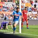 Mertens iguala a Cavani y descarta una lesión: «Quiero seguir haciendo goles»