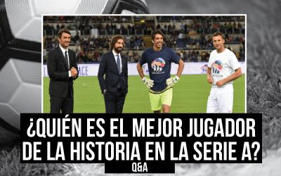 ¿Quién es el mejor futbolista en la historia de la Serie A?