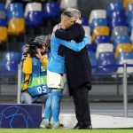 Los jugadores del Napoli en lágrimas tras el despido de Ancelotti