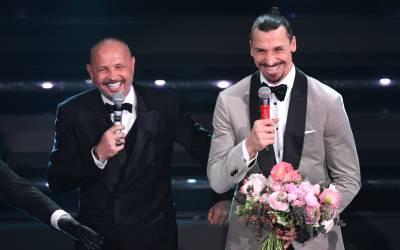 Ibrahimovic canta con Mihajlovic en el Festival de San Remo