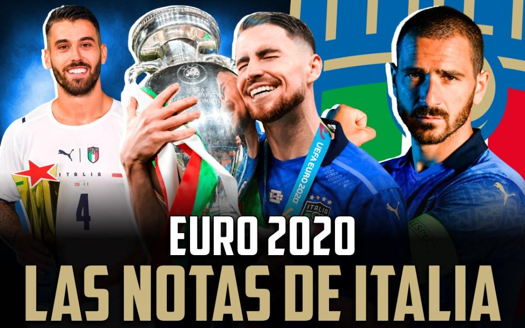 Las notas de la selección italiana en la Eurocopa