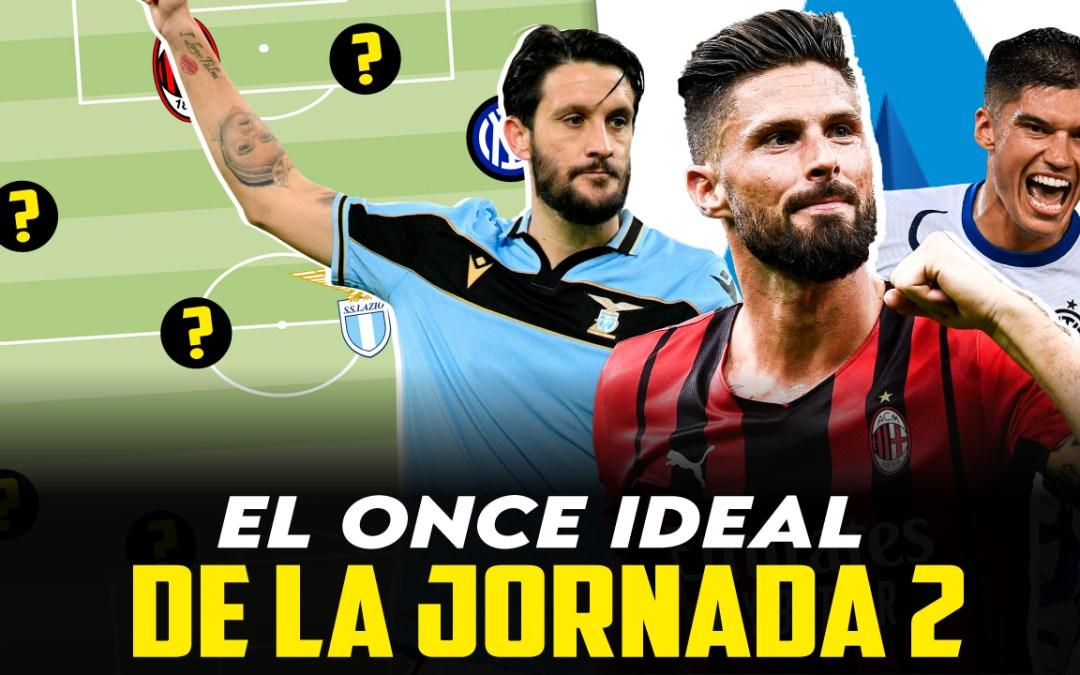 El once ideal de la jornada 2 en la Serie A