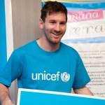 Messi dona casi medio millón de euros a Unicef