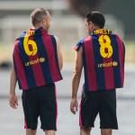 Xavi convence a Iniesta para ir a Qatar