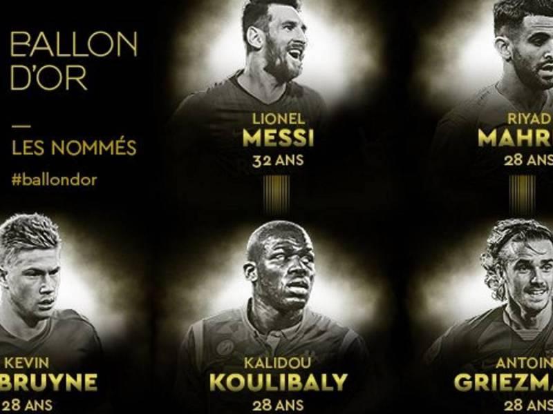 Balón de Oro: lista de candidatos y nominados al premio