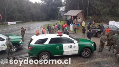 Photo of COMUNIDADES HUILLICHES DEL SECTOR LOS RISCOS SE MANIFIESTAN EN RUTA HUEYUSCA-SAN PEDRO