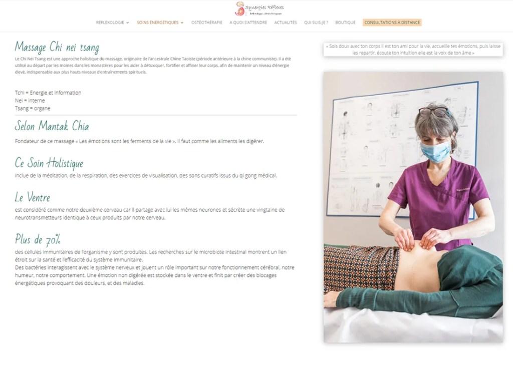 Synergies Reflexes massages chi net tsang