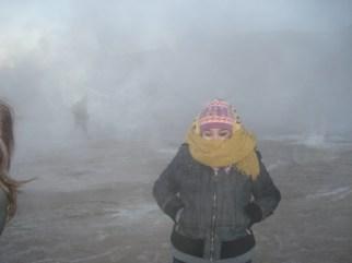 Cagate de frío en los geiser
