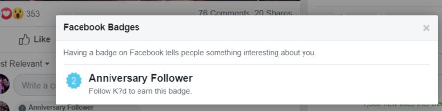 Facebook estrena insignias para fans más activos