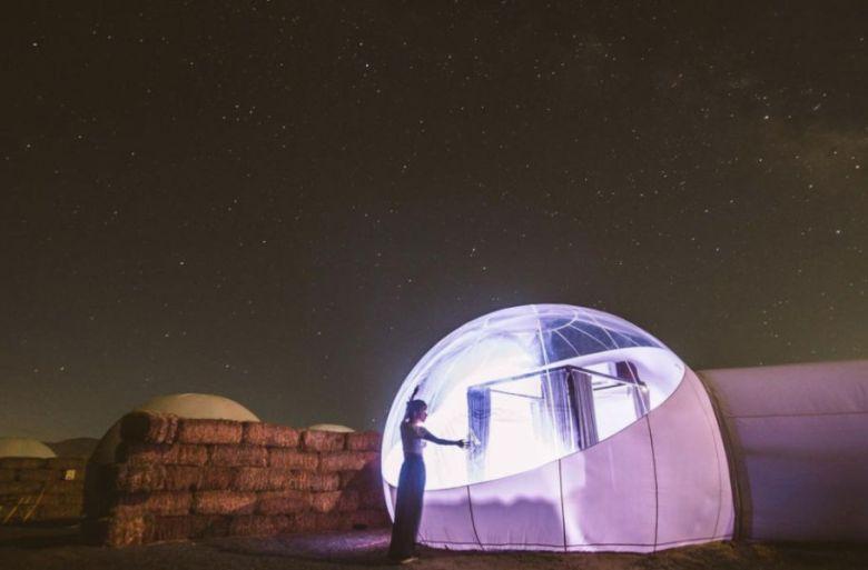 Hotel Burbuja. Una experiencia inmersiva bajo las estrellas.