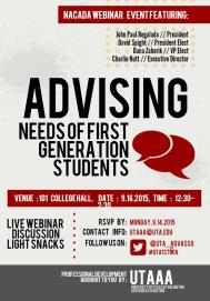 NACADA Webinar Event Flyer