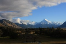Mount Cook, as viewed from the holiday park