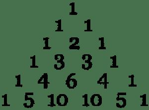 ejemplo sencillo de un triángulo de Tartaglia