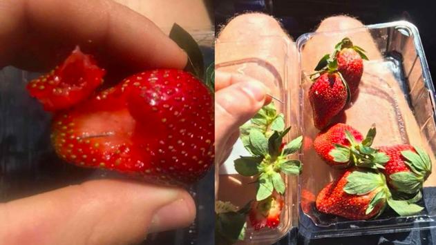 #Cuidado: Esconden agujas dentro de fresas
