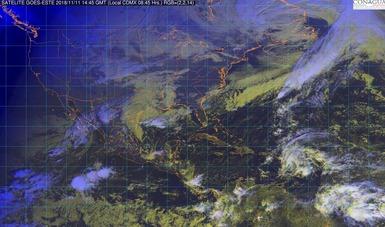El Frente Frío No. 9 ocasionará tormentas fuertes en Veracruz, Tabasco, Oaxaca y Chiapas