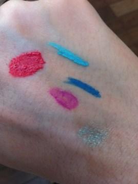 Swatchs Lush couleurs fraiches faites main