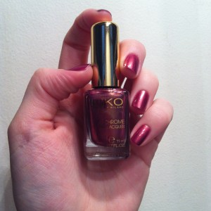 Aureus Pomegranate Kiko swatch