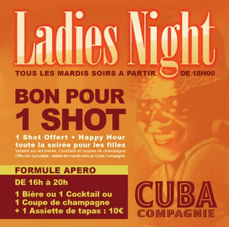 Cuba Compagnie Café Ladies Night