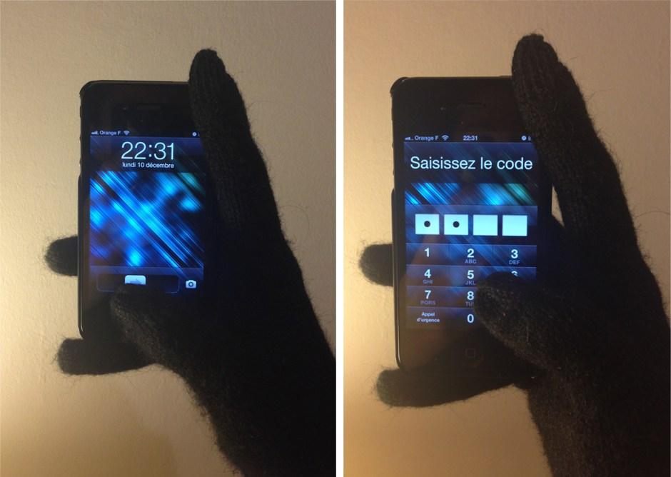 Gants compatibles iPhone h&m smatphone