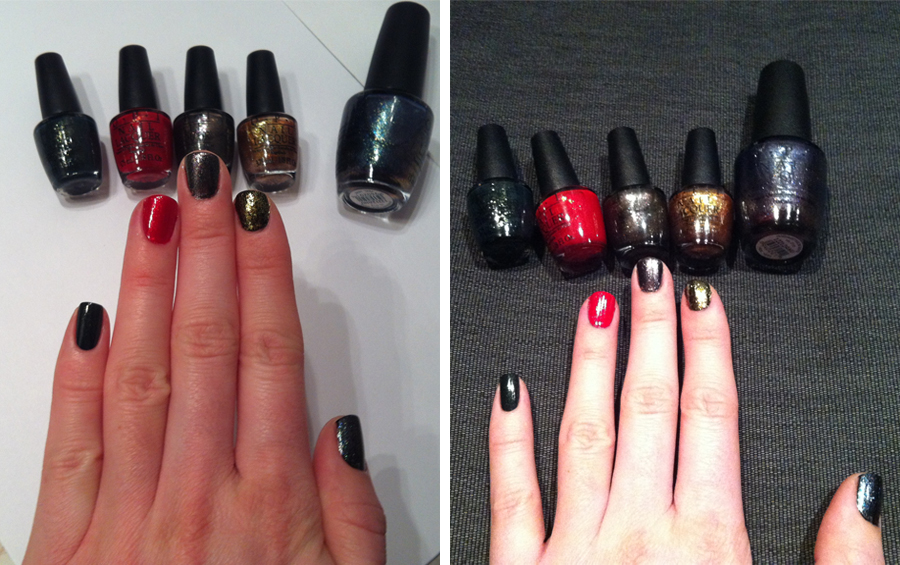 OPI Swatch Collection Skyfall