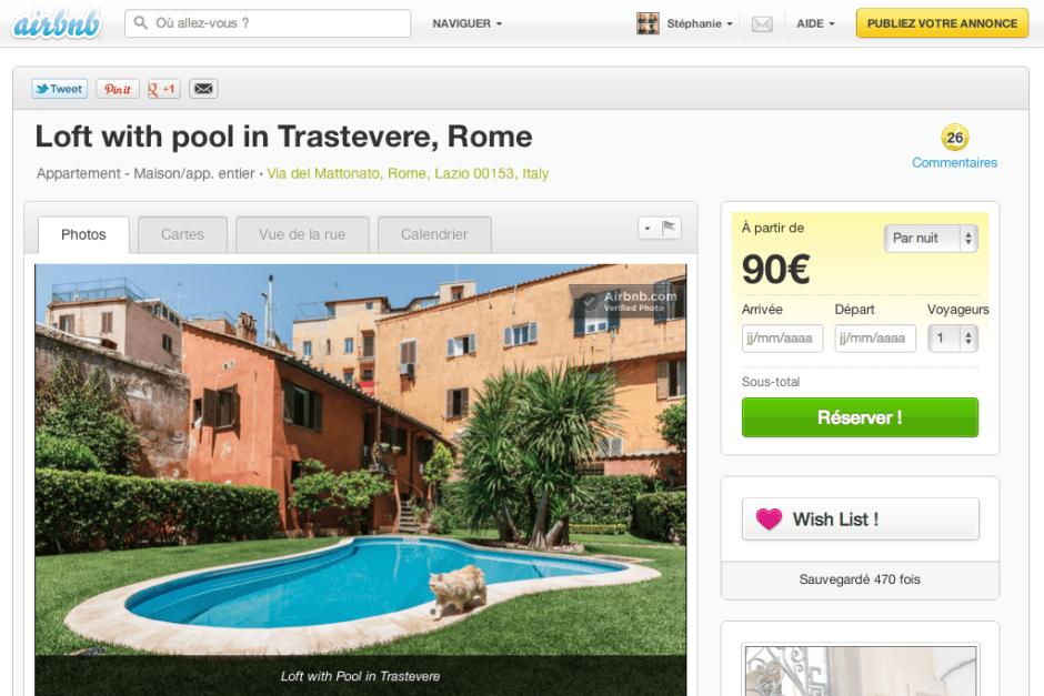 Airbnb avis test