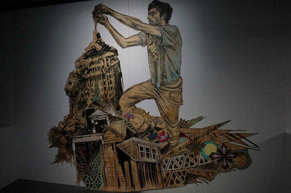 Expo au dela du street art musee poste Swoon