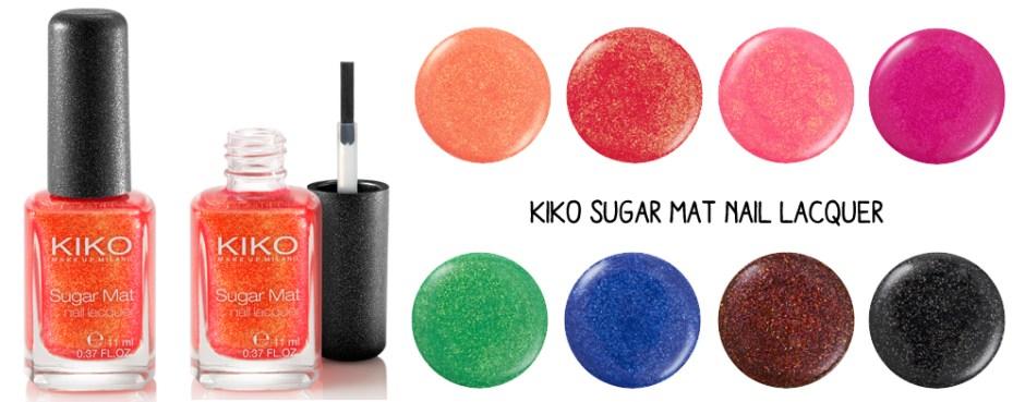 Kiko sugar mat nail lacquer