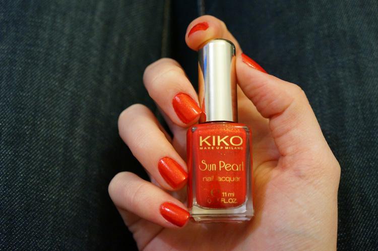 Kiko Sun Pearl Lacquer 430 Chili Pepper Red swatch