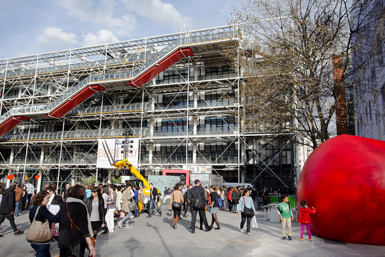 RedBall Project Paris Beaubourg