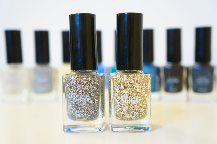 Vernis HEMA top coat paillettes avis