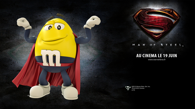 M&M's Man of steel Passion Paris Studio Planktoon